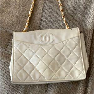White Chanel evening bag